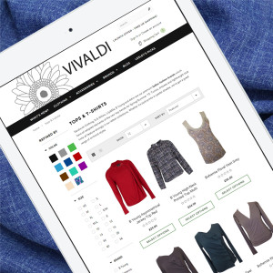 Vivaldi Shopify Ecommerce project by Digital Six