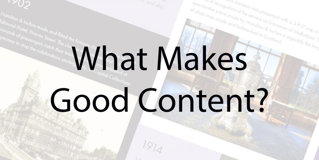 What Makes Good Content