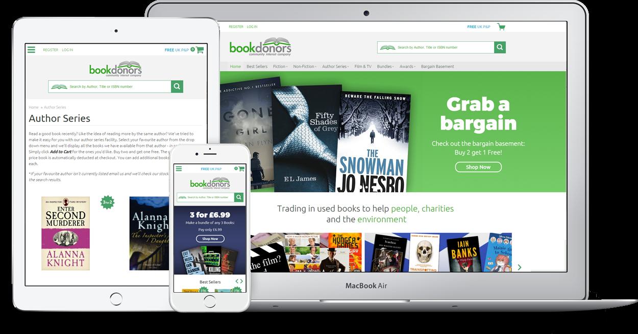 Bookdonors website