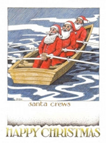 Rock the Boat Christmas Card