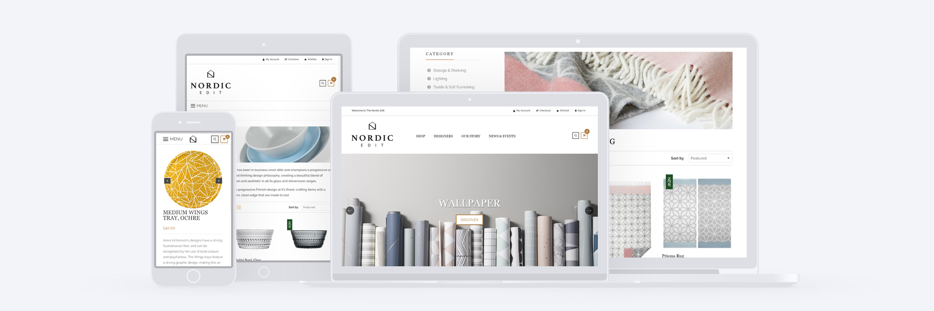 Nordic Edit Shopify site
