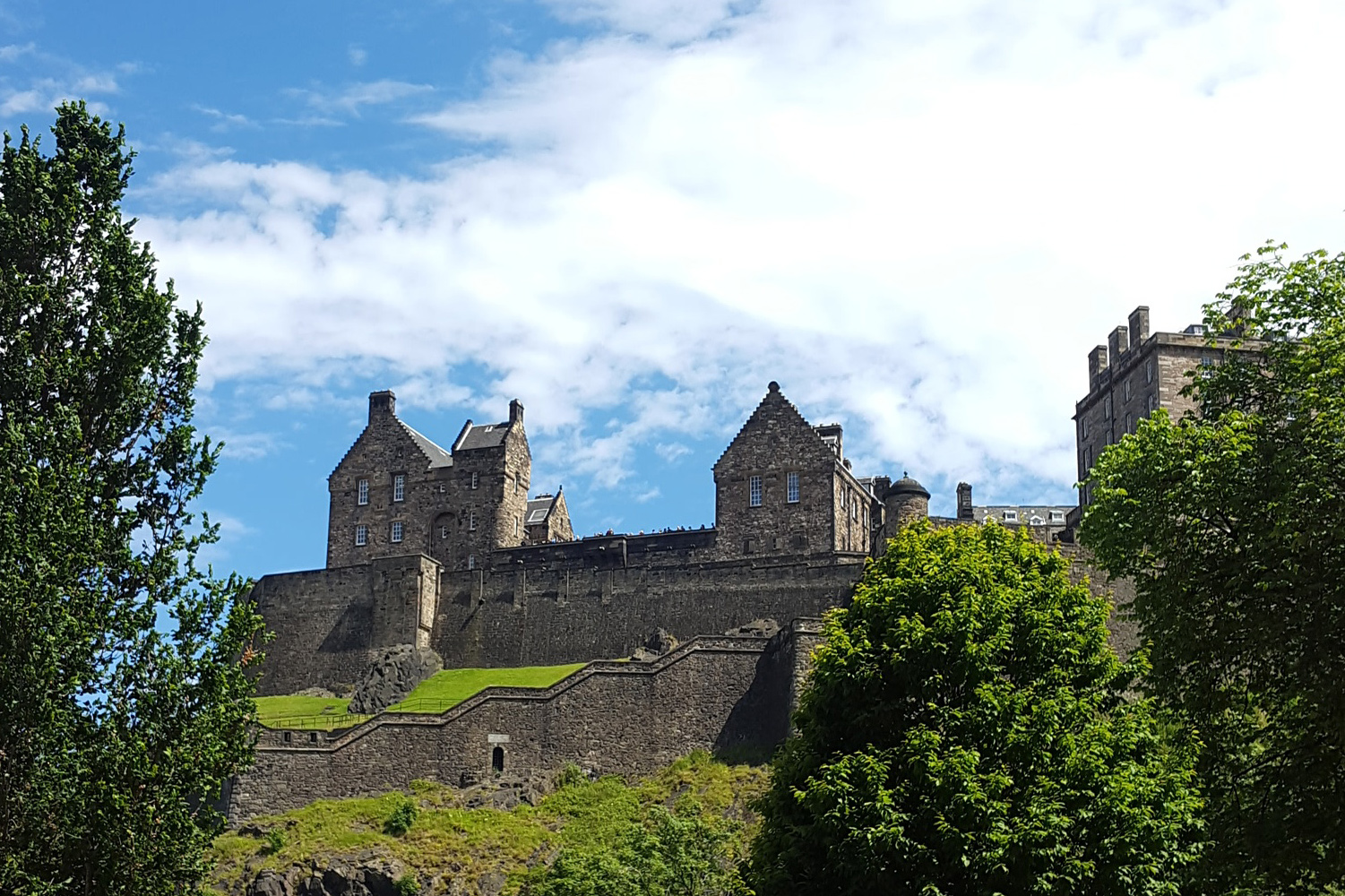 Digital Six Overlooks Edinburgh Castle