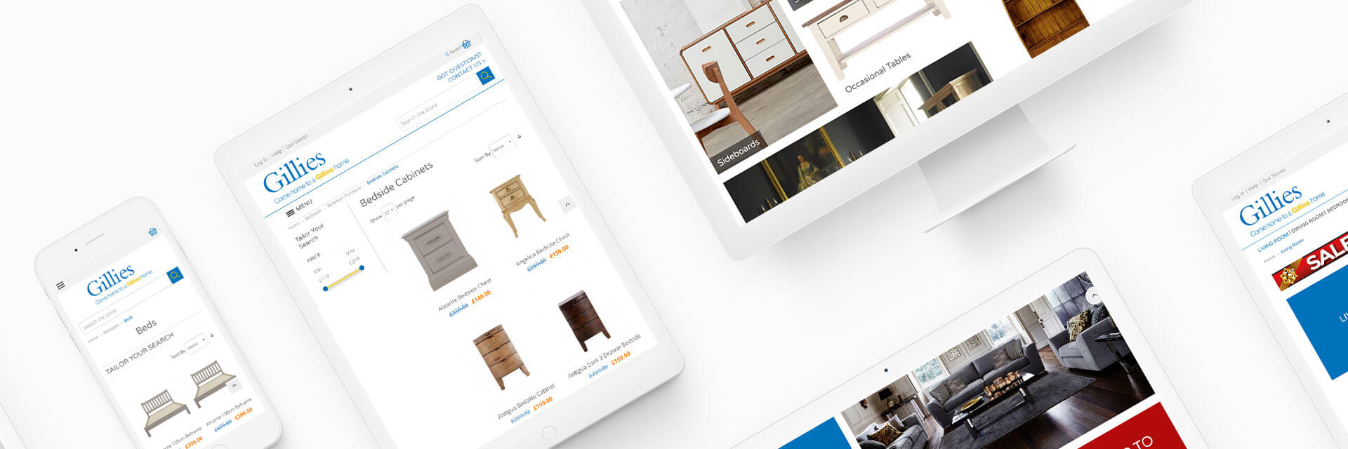 Gillies Furniture Magento Ecommerce Project