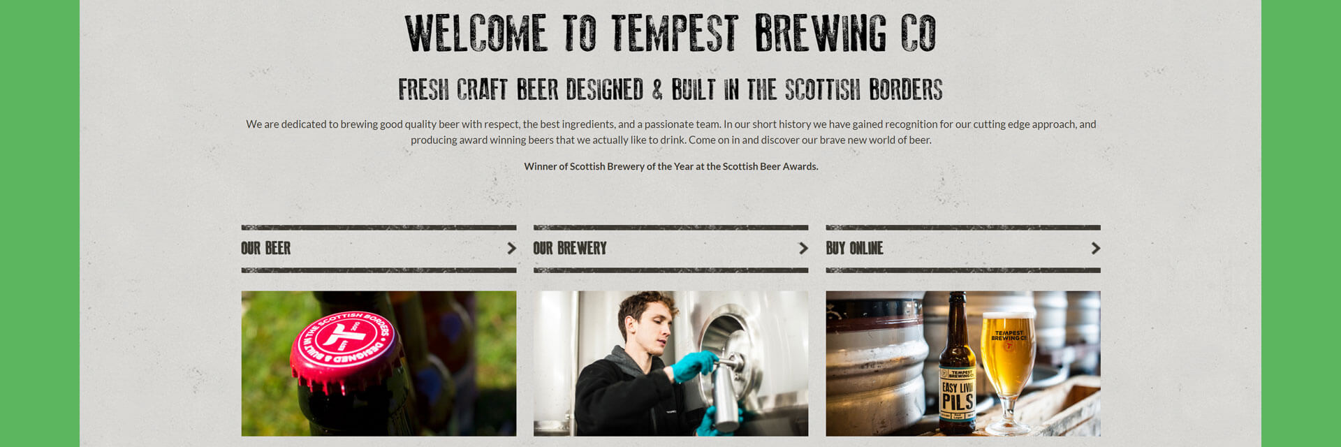 Tempest Brew Co Banner