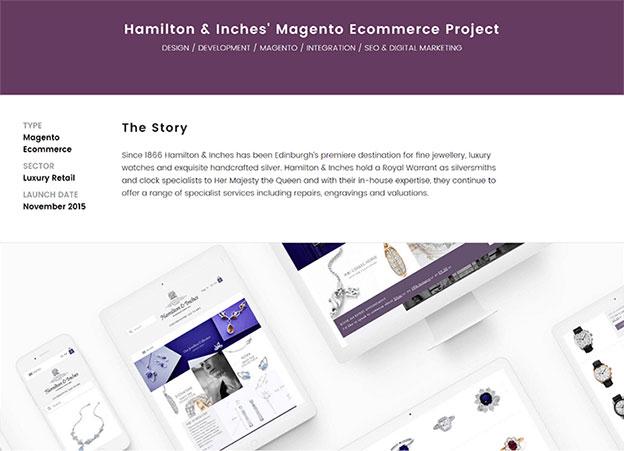 H&I Timeline portfolio example