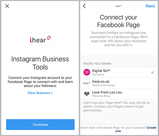 Instagram Business Page Set Up