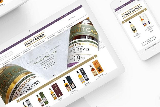 Whisky Barrel portfolio example