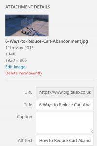 Alt tag images in WordPress