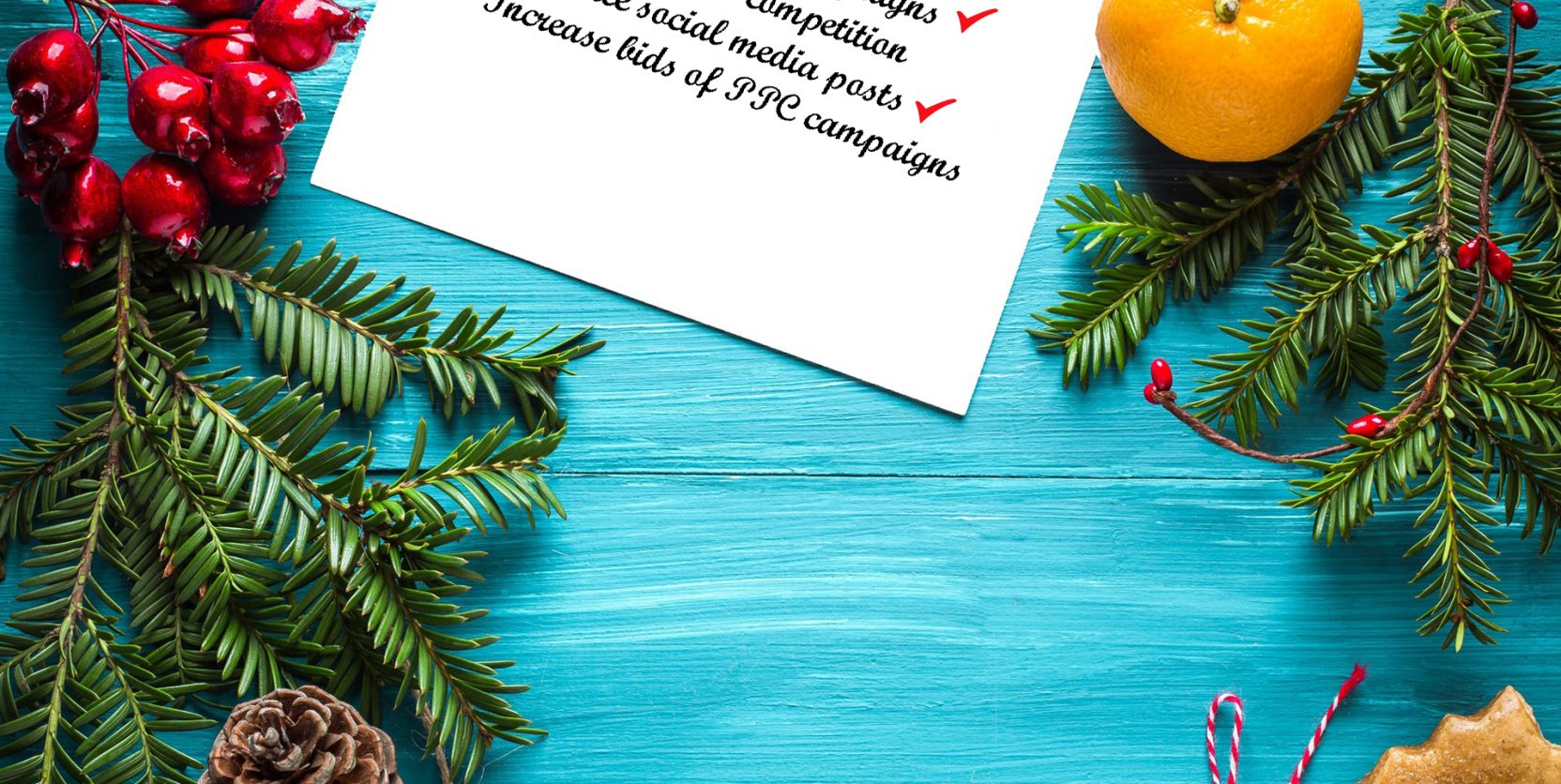 Christmas checklist for marketing channels