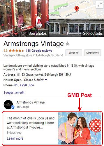 GMB Post example