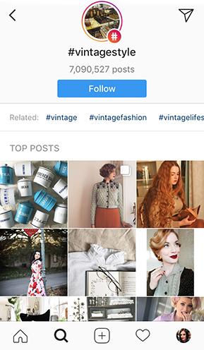 Instagram follow hashtags feature