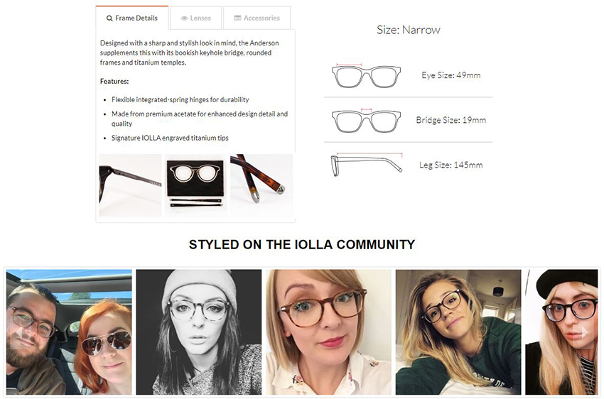 UGC on iolla's product page
