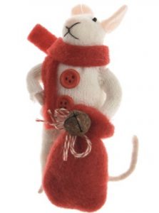 Felt mouse decoration