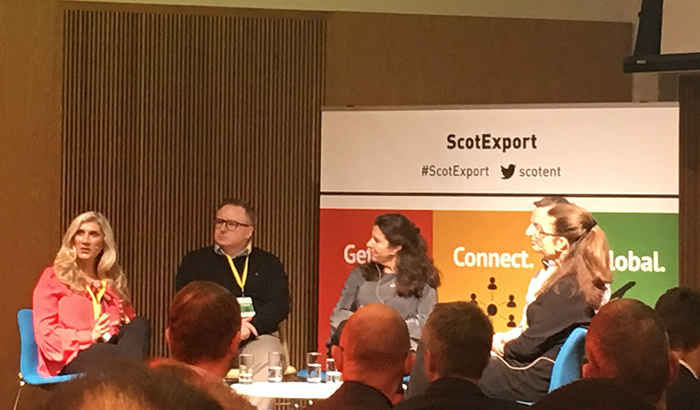 Scot Export Morning Panel with Sticky Heelz, Essence of Harris, Snapdragon and PeakScientific