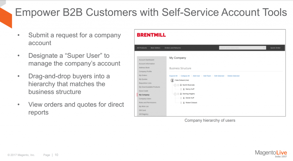 Magento 2 B2B Features - Customer Accounts