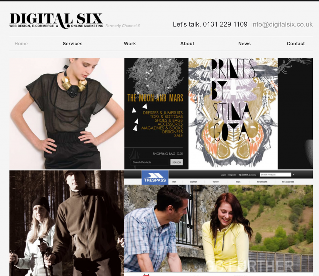 Digital Six Website 2011