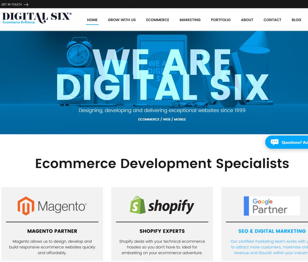 Digital Six Website Present Day