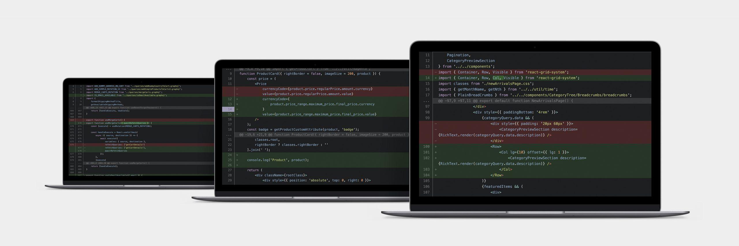 ecommrece development script on screens by Digital Six