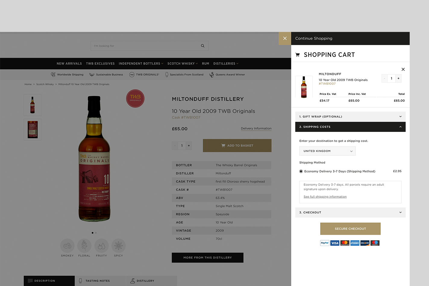 PWA ecommerce cart screen from Digital Six