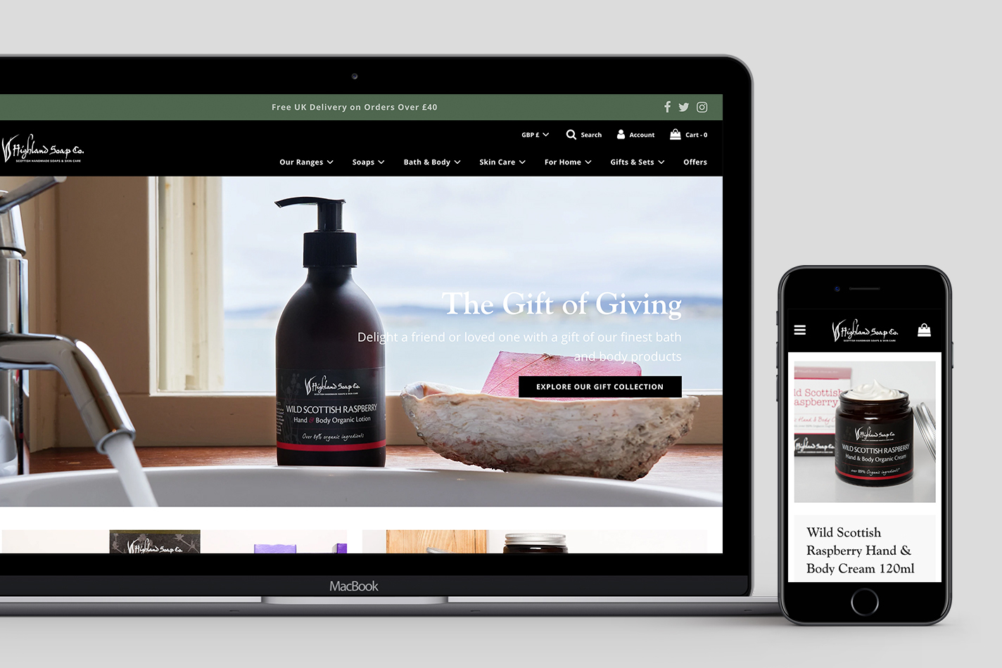 Highland Soap Co. Shopify Project