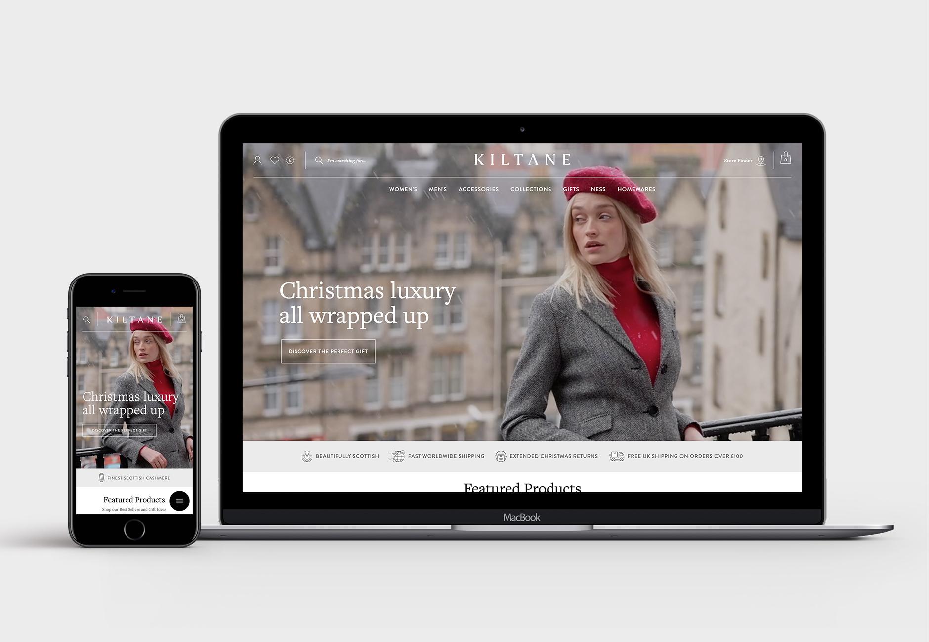 Kiltane Magento 2 Homepage Design