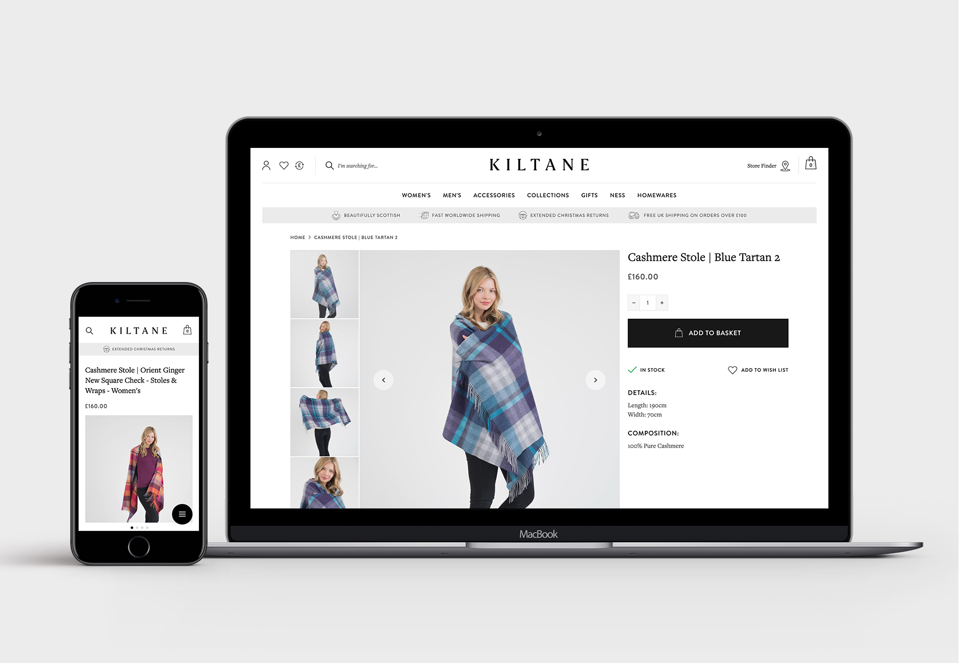 Kiltane Magento 2 Product Page Design